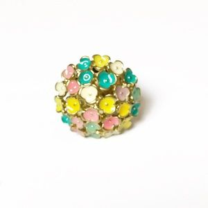 Statement Pastel Flower Expandable Ring